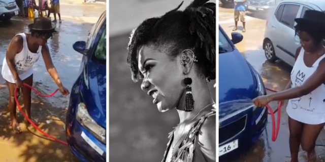 VIDEO of Late Ebony Reigns Working At A Washing Bay Pops Up Online