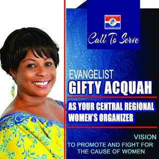 EVANGELIST GIFTY ACQUAH CONGRATULATES ELECTED CONSTITUENCY OFFICERS IN CENTRAL REGION
