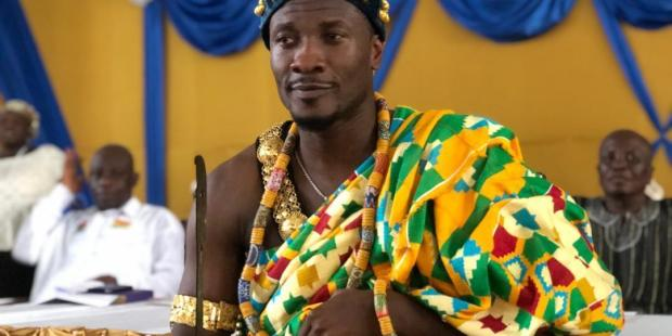 VIDEO: Asamoah Gyan enstooled as a local chief in Hohoe, Volta Region