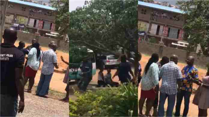 Hot Video: Odorkor Police Officer fights IGP for dating his wife
