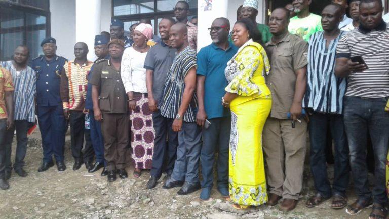 Bono Minister Visits NDC Regional Executives