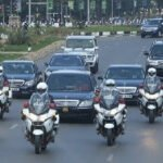 Akufo-Addo travels with about 50 vehicles to the Volta Region