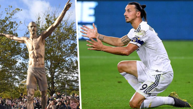 Ibrahimovic statue set on fire by angry Malmo supporters after Hammarby deal confirmed