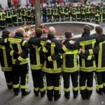 German police arrest suspects in murder of fireman
