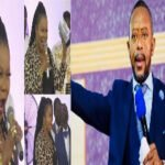 Watch Video: Nana Agradaa spotted leading worship in Rev. Owusu Bempah's church