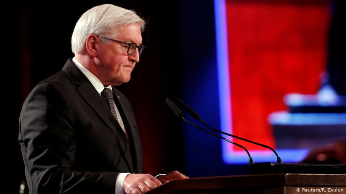 Germany not immune to evil 75 years after Auschwitz liberation, Steinmeier says