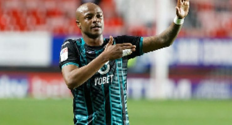Andre Ayew shines in Swansea City's defeat to Derby County