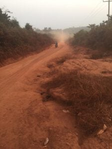 Mim Nkensere Residents Cry To Gov't To Fix Death Trap Road
