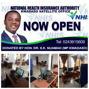 KWADASO MP SECURES OFFICE FOR NHIS STAFF TO SERVE RESIDENTS