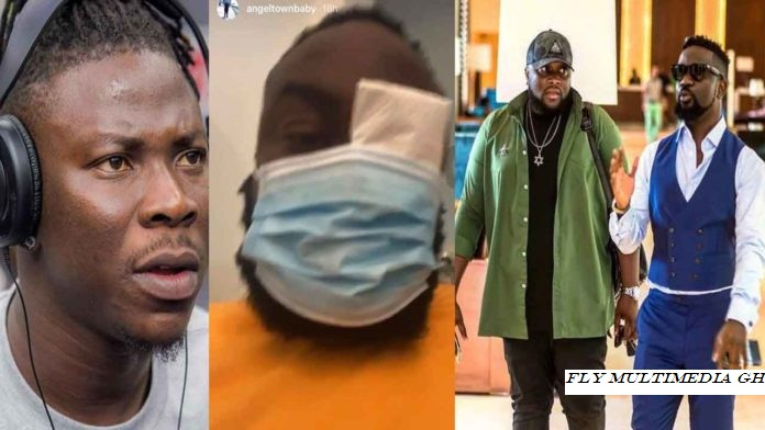 Stonebwoy reportedly beats ups Sarkodie's manager, Angel Town