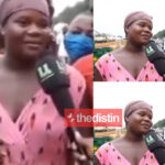 VIDEO: I Can Drink 12 Bottles Of Beer – Woman Says At Spot Where Beer Truck Had An Accident On The Tema Motorway