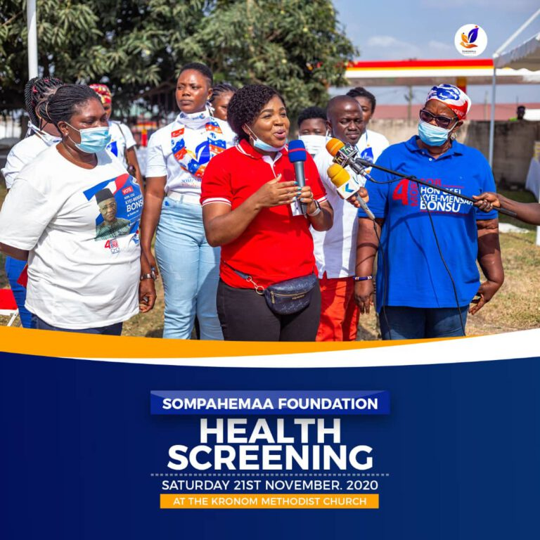 Suame benefits from Sompahemaa Foundation's free health screening