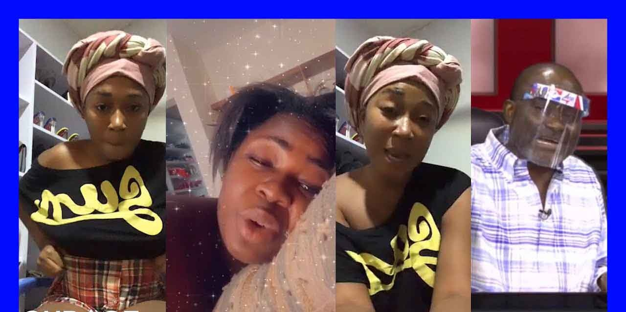 Watch video: Village girl-Kennedy Agyapong's alleged girlfriend lands heavily on Tracey Boakye