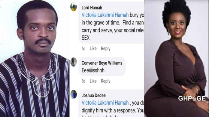 Victoria Hamah and brother, Lord Hamah dirty themselves on social media