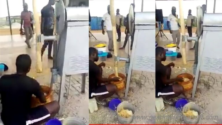 Watch video:  New Fufu Pounding Machine With Pestle Drops