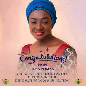 Ashanti Youth Federation Congratulate Hon Ama Pomaa Boateng
