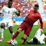 Asamoah Gyan reacts to Cristiano Ronaldo breaking his scoring record at major tournaments
