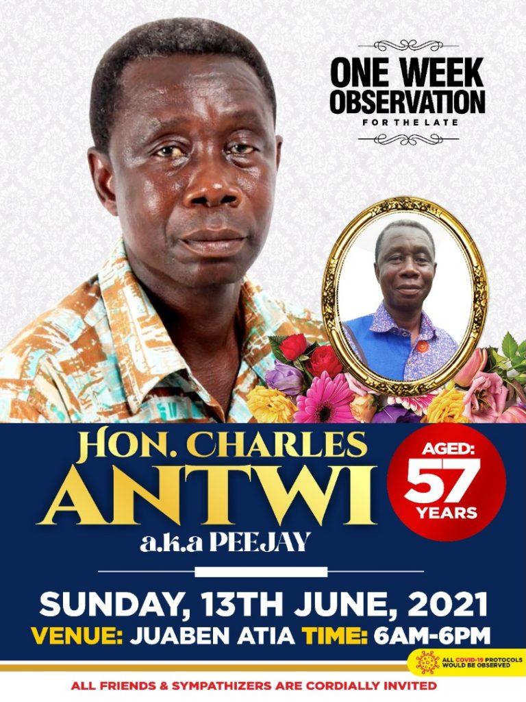 Francis Owusu-Akyaw Mourns Hon Charles Antwi