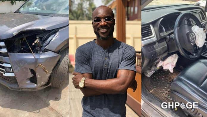 Kwabena Kwabena involved in accident on Kumasi Highway