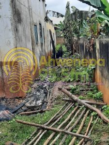 A/R:Fire Guts Residence Of Police And Nurses At Bompata