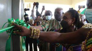 Abena Osei-Asare, Deputy Health Minister Commission Two Health Facilities in Atiwa-East