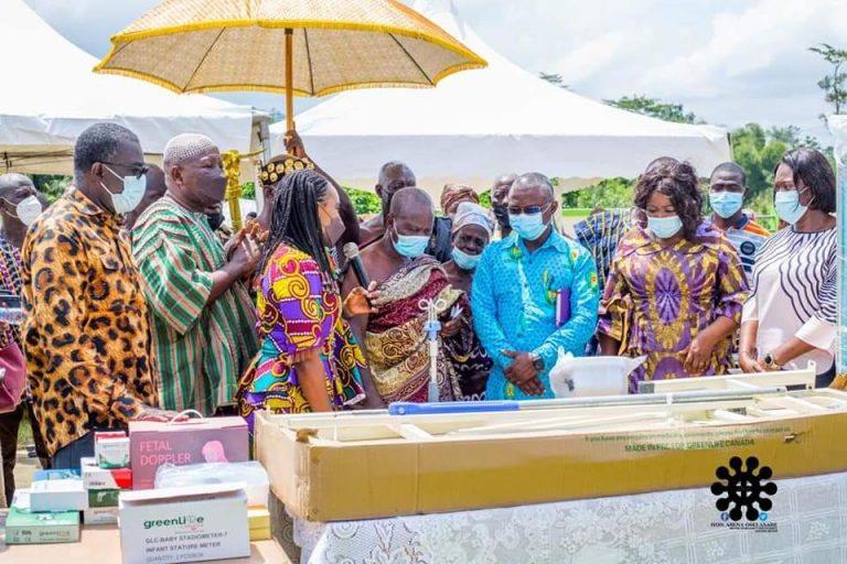 E/R: Hon Abena Osei-Asare Donates Medical Equipment To Two Health Facilities In Atiwa-East